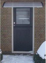 Deurluifel - Afdak deurluifel - transparant - polycarbonaat - 80cm! diep en 150 cm breed - enige unieke formaat, eigen fabrikaat.