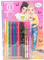 TOPModel kleurboek met potloden