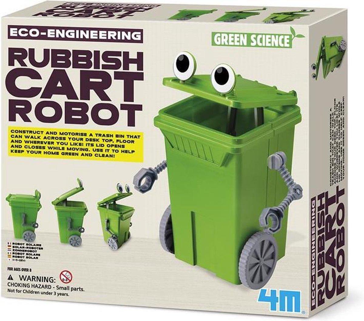 4M Kidzlabs GREEN SCIENCE/Eco-Engineering: AFVALBAK ROBOT, werkt op 1x1.5V AAA batterijen (niet inbegrepen), gedetailleerde instructies inbegrepen, doos 24x22x6cm, 8+ - 4M