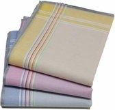 Tiseco Dames zakdoeken Stripe 12 St  - 30  - Blauw