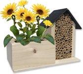 Bijenhotel met BIO zaden Zonnebloem kweekset