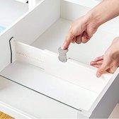 Kunststof ladeverdeler – Set van 2 stuks – Bestek Organizer – Uitschuifbaar – Bestekbak – Verstelbare ladeverdeler – Lade Organizer - Bestek/Keuken/Bureau/Make-Up