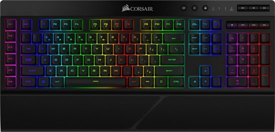 Corsair K57 RGB Draadloos Qwerty Membraan Gaming Toetsenbord - Backlit RGB LED - Zwart