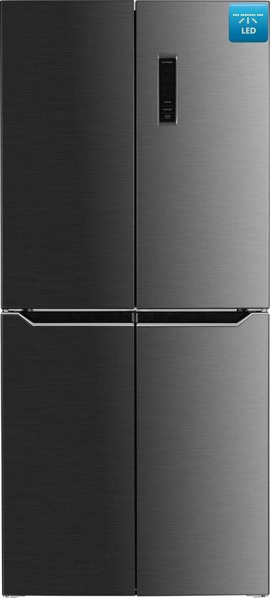 Amerikaanse koelkast: Frilec - BONNSBS452-4NFA+DI - Amerikaanse koelkast - RVS, van het merk Frilec