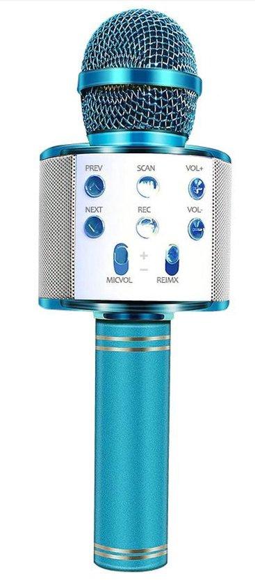 Karaoke Microfoon - Draadloos - Bluetooth Verbinding - Blauw - Voor de gezelligste feestjes