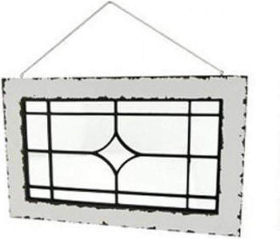 Bol Com Wand Raam Decoratie Glas In Lood Look A Like Helder Glas