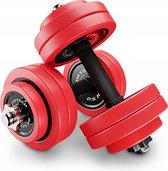 Sportstech AH300 halterset - korte&lange halter ineen - 30 of 20 kg