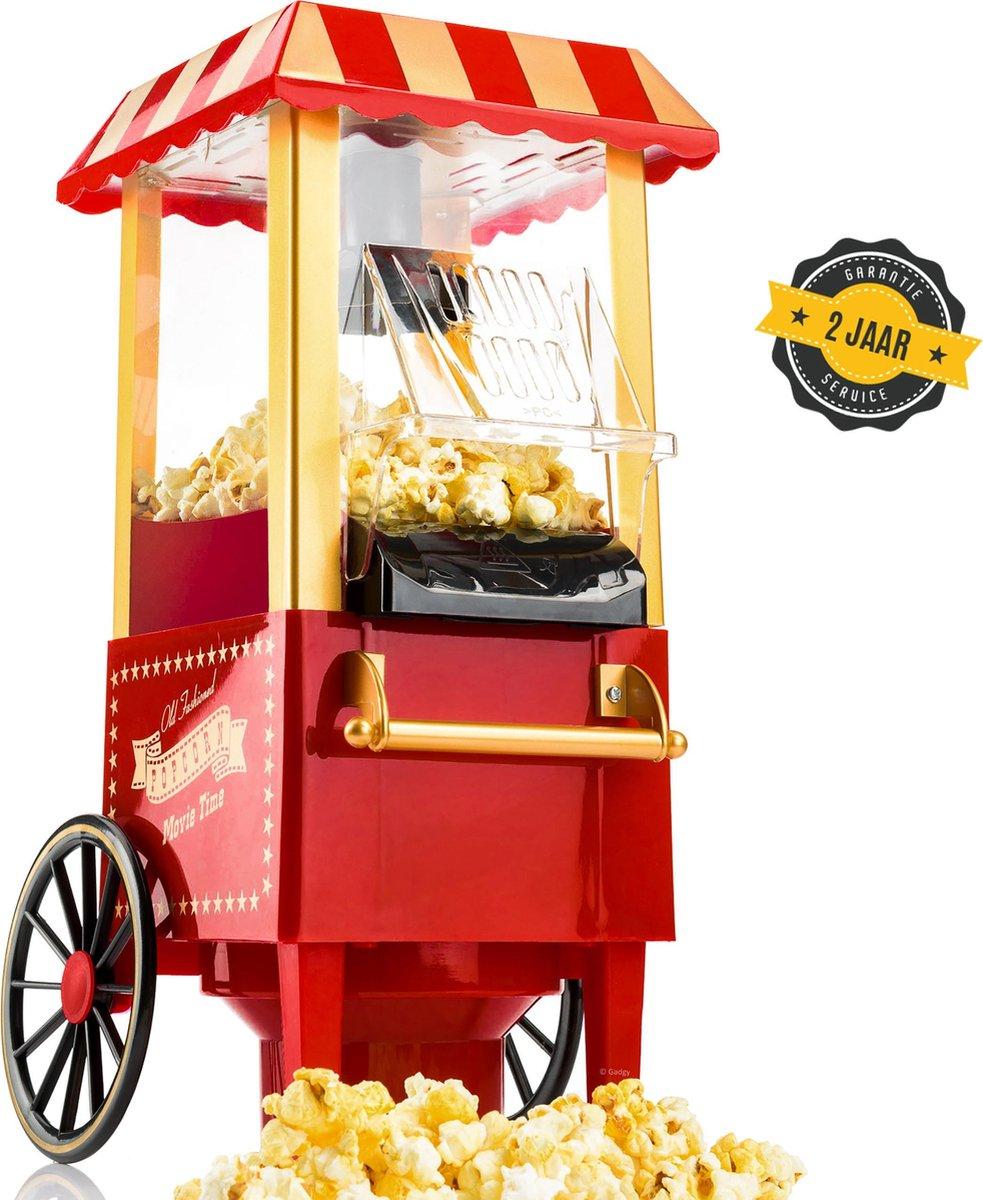 Gadgy Popcorn Machine - Klassieke Popcorn Maker - hete lucht, vetvrij - 39 x 24 cm.- 1200 watt