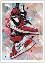 Nike air Jordan 1 retro high Off-White Chicago poster (50x70cm)