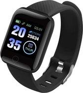 DrPhone - KidzOne - Smartwatch voor Kinderen  - Hartslagmeter - Stappenteller - Waterdicht -  NL app - Zwart