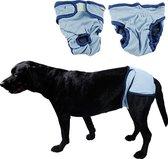 Hondenbroekje - luier voor teef - loopsheid - ongesteldheid - wasbaar - BLUE - SMALL