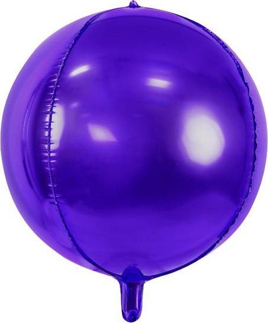 Folieballon rond Paars Violet