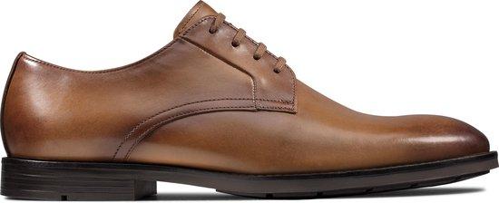 Clarks Ronnie Walk Heren Veterschoenen - Tan Leather - Maat 42