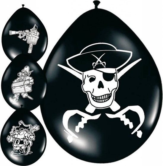 Piraten ballonnen - 8 stuks