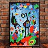 Canvas Schilderij * Joan Miro The Garden 1925 * - Modern Abstract - kleur - 50 x 70 cm