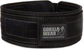 """Gorilla Wear 4"""" Nylon Belt - Gewichthefriem - L/XL - Zwart"""