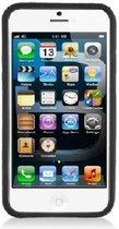 Apple iPhone 5C Smartphone Hoesje Siliconen Bumper Case Transparant Zwart