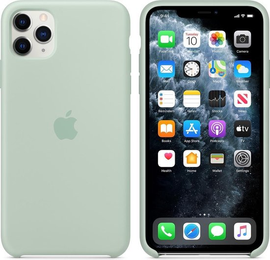 Apple Silicone Backcover iPhone 11 Pro Max hoesje - Mint