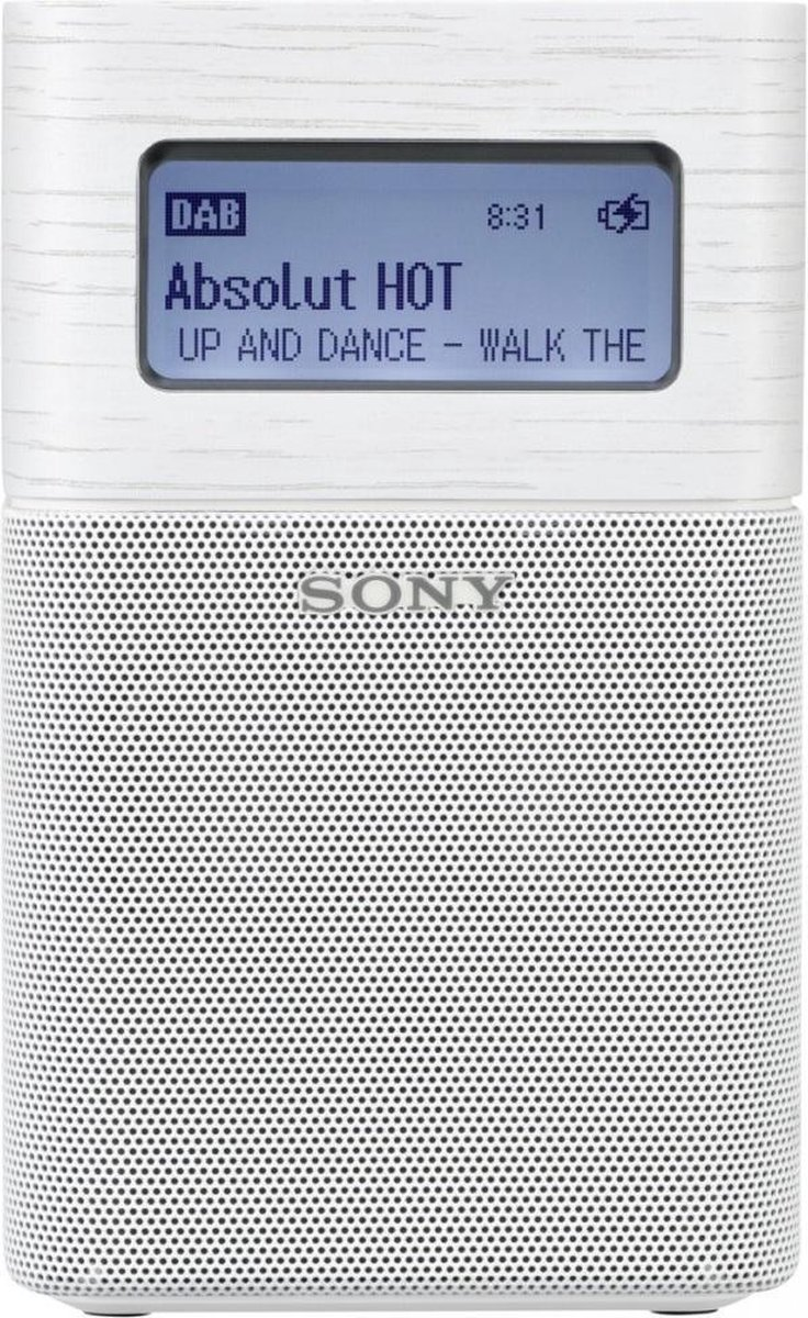 Sony XDR-V1BTD - Draagbare DAB+ radio met Bluetooth en wekker - Wit