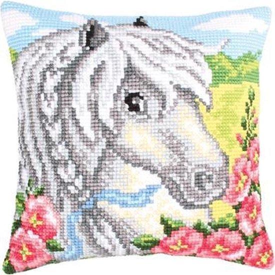 Voorbedrukt kruissteek Kussenpakket ponny Collection d'Art 5207