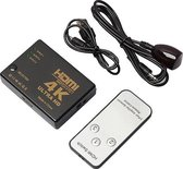 HDMI 4K Switch Splitter Inclusief Afstandsbediening - 1080P/4K - 3 Poorts