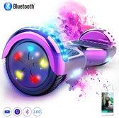 Evercross Hoverboard 6.5 Inch   Flits Wielen   Bluetooth Speaker   LED verlichting   Roze Chroom
