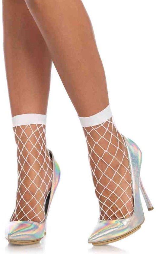 Leg Avenue Sokken Net Wit