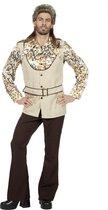 Hippie Kostuum | Jaren 70 Glinsterende Confetti | Man | Maat 52 | Carnaval kostuum | Verkleedkleding