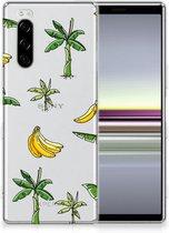 Back Cover Sony Xperia 5 TPU Siliconen Hoesje Banana Tree
