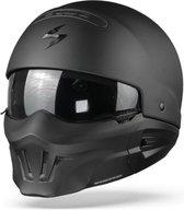 Scorpion EXO-Combat Evo Solid Matt Black Jet Jethelm - Motorhelm - Maat L
