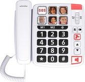 Swissvoice Xtra1110BNL wit - Grote Toetsen Senioren Telefoon vaste lijn met foto toetsen en senioren instellingen