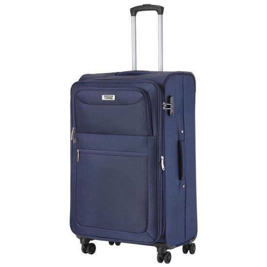 Travelz Softspinner TSA Reiskoffer - Blauw