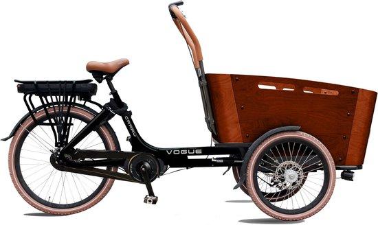 Elektrische Bakfiets Vogue Carry 3 Mat Zwart Bruin N7