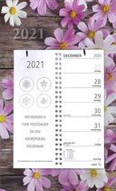 Afbeelding van Omleg weekkalender MGPcards 2021 - ZONDAG - 2 weken overzicht - BLOEMEN - 21 x 34 cm