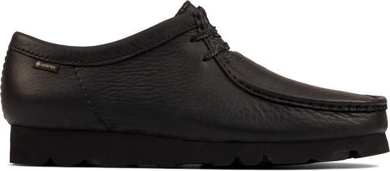 Clarks - Herenschoenen - Wallabee GTX - G - black leather - maat 7,5