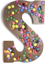 Joe & Mien Ambachtelijke Chocolade letter 'S' - Confetti - Melk - 1 x 200 gram
