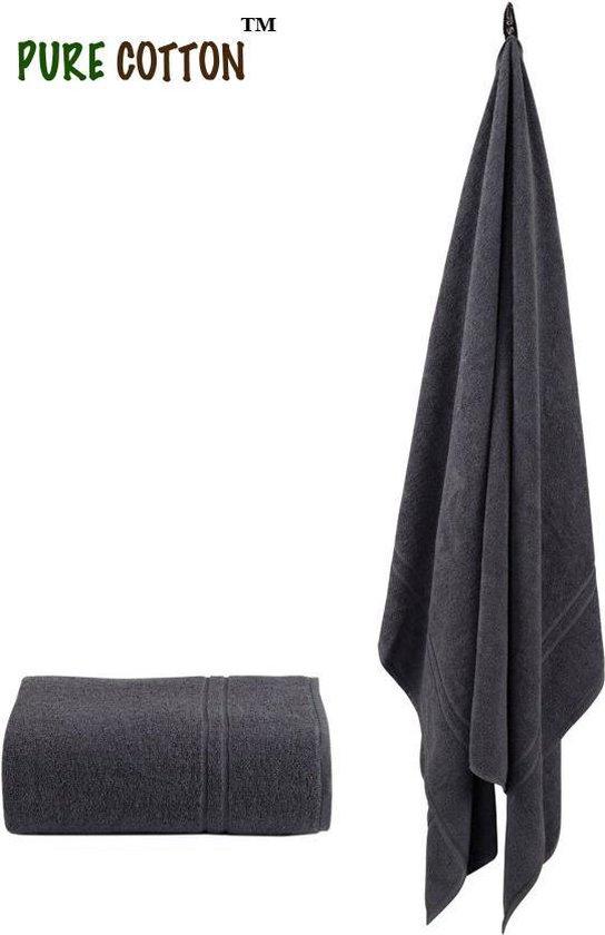 Sauna Handdoek - 200x90cm - 100% Gekamd katoen - Badhanddoek - Hotel Kwaliteit - Antraciet