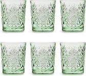 Libbey Drinkglas Hobstar Ebony Green – 355 ml/ 35,5 cl - 6 stuks - vintage design - vaatwasserbestendig - hoge kwaliteit
