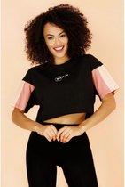 La Pèra Zwart YesXNo T-Shirt 95% Katoen Dames- Maat S