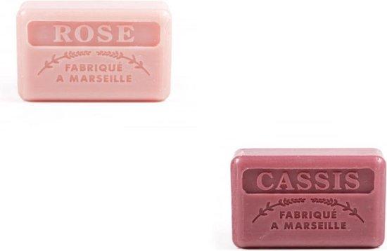 Marseille zeep set - zeep savon de marseille Casis + Rose 2x125 gr.