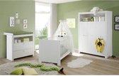 OLIVIA Complete babykamer: bed 70x140 cm + kledingkast + dressoir - wit