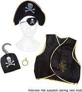 Verkleed set Piraat - Piraten vest kind met attributen piraat