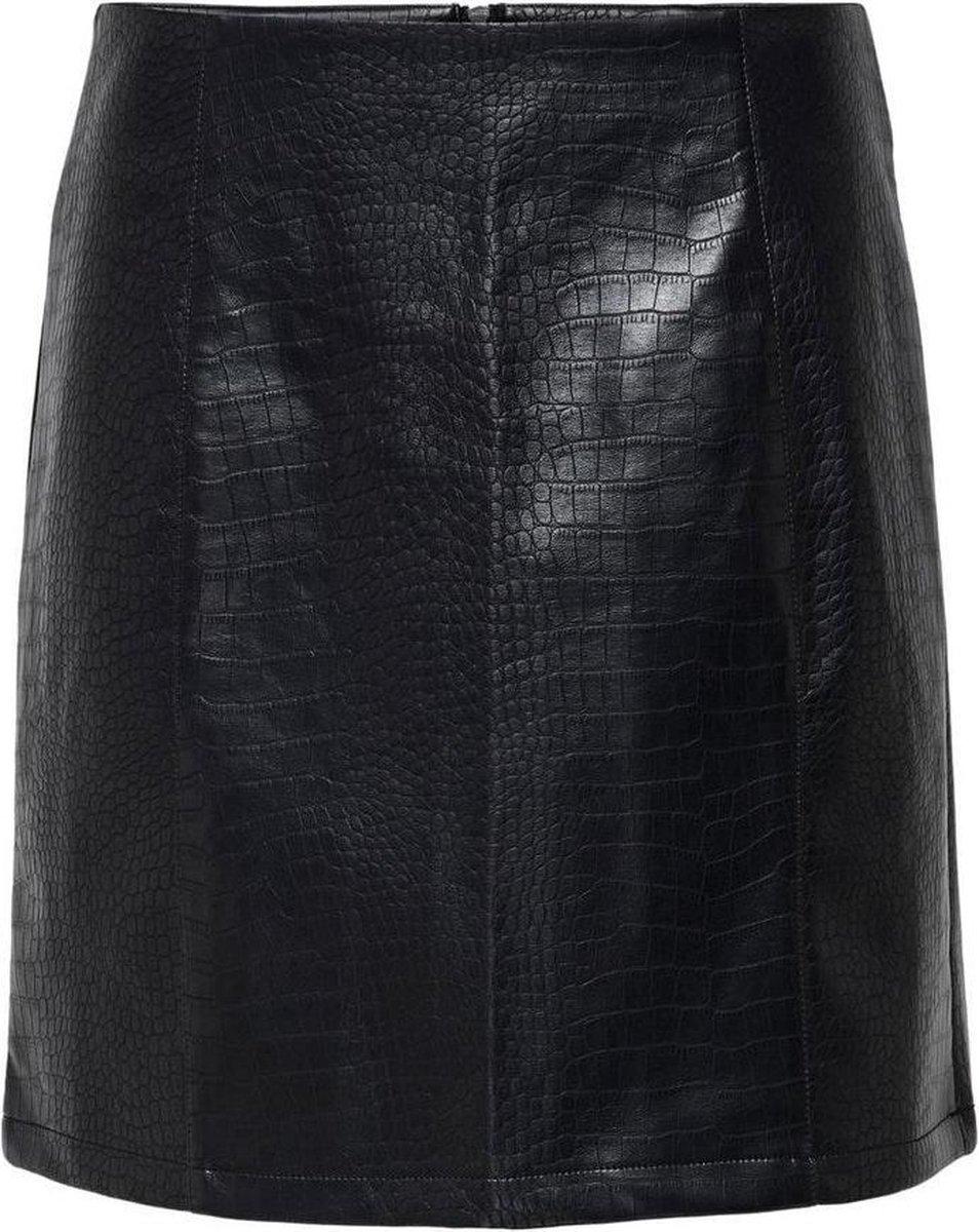 Jdyval Snake Faux Leather Skirt Otw 15216663 Black