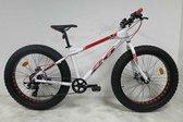 Buxxo Bikes FAT 26  Fatbike  7 Speed  White Red
