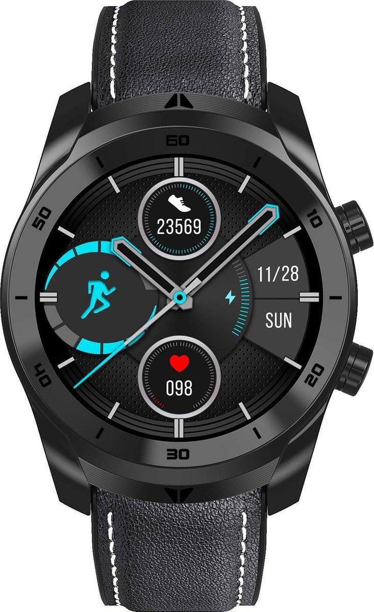 Stenlille Surrío Watch - Smartwatch - Horloge – Zwart - Lederen en Siliconen bandjes - Horloges voor mannen vrouwen - Jongens Kinderen - Smartwatch Heren Dames - Extra gratis bandje kopen