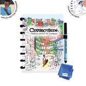 "Correctbook A5 special edition ""Into the Slums"" Lijntjes - whiteboard notitieblok / schrift"