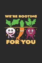We're rooting for you: 6x9 Organic Food - grid - squared paper - notebook - notes