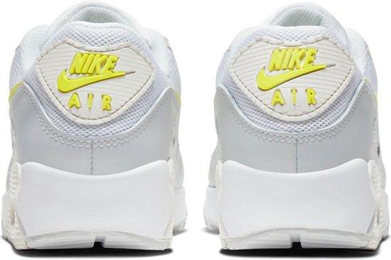 Nike Air Max 90  Sneakers - Maat 40 - Vrouwen - wit/grijs/geel