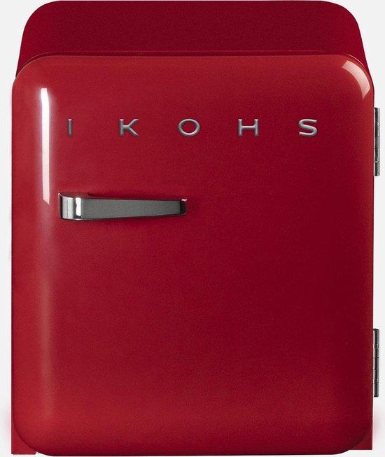 Koelkast: IKOHS Retro Mini Koelkast - 48 Liter - Rood, van het merk Ikohs