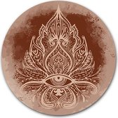 Wandcirkel Boho Ornate | Kunststof 140 cm | Ronde schilderijen | Bohostijl wanddecoratie wooncirkel | Muurcirkel op Forex